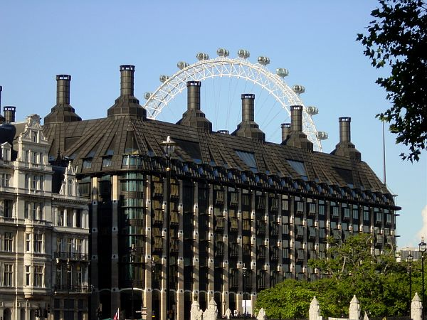 Photo - London Eye from Westminster Abbey