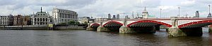 River Thames & Blackfriars Bridge - River Thames in London