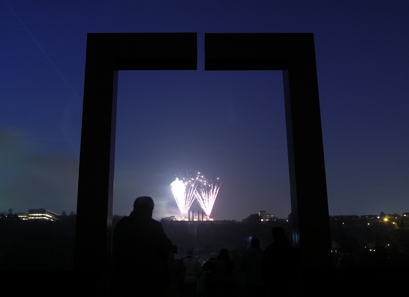 Photo - Feux d'artifice depuis la passerelle
