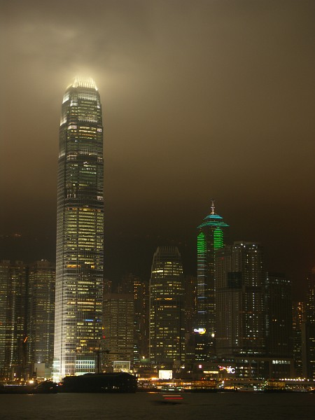 Photo - Hong Kong - IFC-2 Tower by night