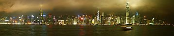 Hong Kong by Night - Panoramic view - Hong Kong by Night
