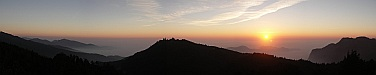 Sunset from Chushan moutain - Panoramic - Alishan - Sunset
