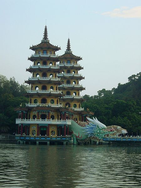 Photo - Pagode du Tigre et du Dragon - Lac du Lotus