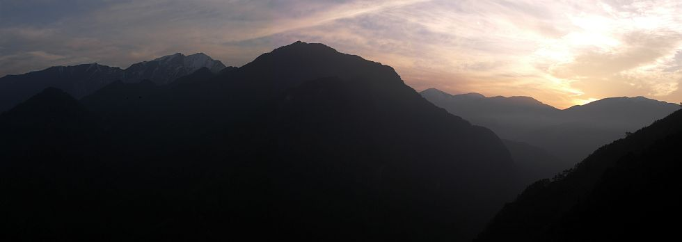 Photo - Sunset on Hehuan mountain