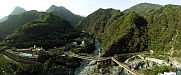 Tiansiang - Panoramic view from the Pagoda - Taroko - Tiansiang