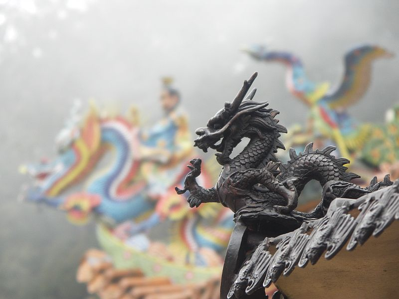 Photo - Shoujen temple's dragons - Alishan